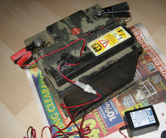 Charging car battery physical chemical change notes